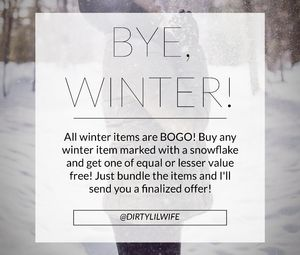 Other - ❄️ALL WINTER ITEMS MARKED WITH A ❄️ ARE BOGO!!!!❄️